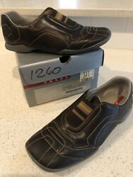 Prada Men#x27;s Casual Shoes Brown Slip on Italy Size 9.5 $75.00