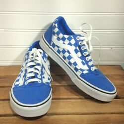 Vans OFF THE WALL Blue Checkerboard Size 7.5 Men's
