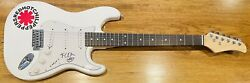 Red Hot Chili Peppers Flea Autographed Signed New White Electric Guitar Psa/dna