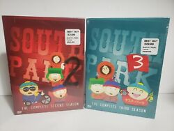 New 2 South Park The Complete Season Season 2 And 3 Sealed Dvd Lot