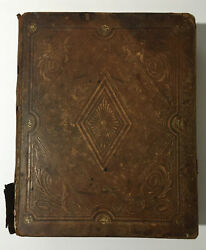 Antique Large Illustrated Holy Bible Family Bible Early 1800andrsquos