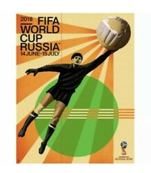 2018 Fifa World Cup Russia Official Poster X2 - 24 X 30 Goalie Lev Yashin