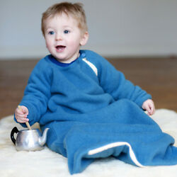 Baby Toddler Wearable Blanket With Sleeves 100 Merino Wool 0 Months - 4 Years