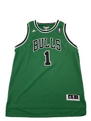 Rare Limited Size Xlarge Chicago Bulls St Patrick's Day Derrick Rose Jersey