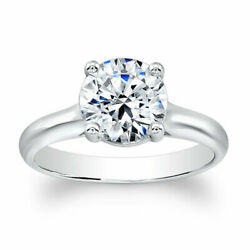 Natural 0.50 Ct Diamond Engagement Ring Solid 14k White Round Gold Size 6 8 7 9