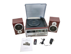 Techplay Odc128 Record Player Turntable Cassette Player Cd Player 2 Speakers