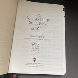 Macarthur Study Bible Nkjv Reference Notes Helps Index Maps Genuine Leather