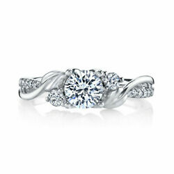 0.74 Ct Real Round Diamond Engagement Ring For Women Solid 950 Platinum Size 6 8