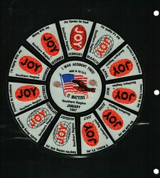Nice Set Of 13 Southern Region Wheel Puzzlejoy Coal Mining Stickers 967