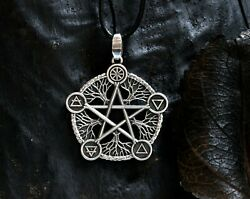Pentacle Pendant - Antiqued Silver Tone - Or 925 Sterling Silver Active
