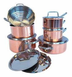 Paderno Canadian Copper Cookware Set 12-pc Made In Canada