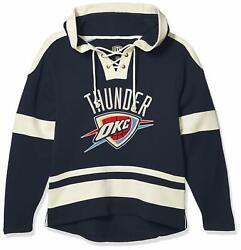 Ots Men's Grant Lace Up Pullover Hoodie Oklahoma City Thunder Xx-large Logo