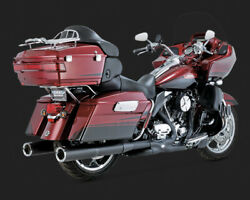 Vance And Hines Hi-output Black Mufflers For 1995-2016 Harley Davidson Touring