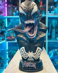 Venom 11 Scale Life Size Bust Sideshow Collectibles Marvel Statue