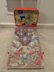 The Simpsons Tv Show Vintage Tabletop Pinball Game With Light And Sound