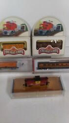 Lot 5 Nos Model Train Cars N Scale Bachman Roundhouse Con-cor Freight Passenger