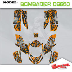 Atv Graphics Kits Decals Stickers Boltcarb Fit Can Am Bombardier Ds650 2008-2015
