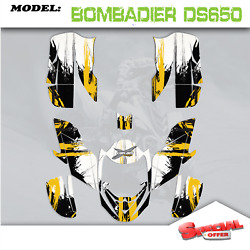 Atv Graphics Kits Decals Stickers Cs Fit Can Am Bombardier Ds650 2008-2015