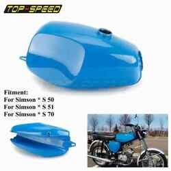 Motorcycle Steel Gas Tank For Simson S50 S51 S70 S 50 51 70 Fuel Tank Blue