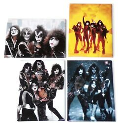 Kiss Band Magnet 4pc Set Lot 2000 Official Unused Kitchen Office Gene Simmons