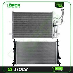 Fits 2004-2009 Mazda 3 Replacement Radiator And Condenser Assembly