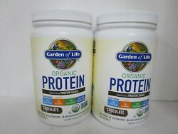 2 Garden Of Life Organic Protein Plant Based Chocolate 18 Serving 2/22 Jl 13643