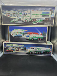 Vintage Lot Of 3 Hess Trucks 1990 , 1996 And 2003 . Great Condition