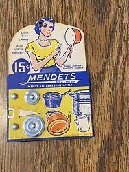 Antique Mendets Advertising Displays From Vintage Store