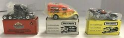 3 Vintage 1990's Matchbox Vehicles 2 Hershey Park And 1 Toy Show New In Boxes