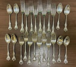 24 Piece Set In Old Colonial By Towle, Sterling Silver