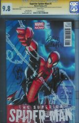 Cgc Ss 9.8 Superior Spider-man 1 Signed By Stan Lee Ryan Stegman Ramos And Slott