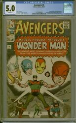 Cgc 5.0 Avengers 9 White Pages 1st Appearance Wonder Man 1964