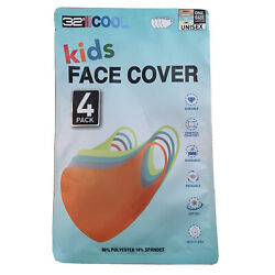 Kids Face Mask Cover 32 DEGREES COOL UNISEX One Size 4 Pack $24.99