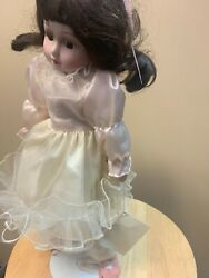Heritage Porcelain Dolls Musical Wind Up Nice Condition
