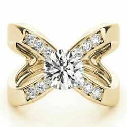 1.00ct Real Diamond Engagement Ring 14k Round Cut Yellow Ringssize 6 8 9