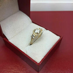 1.36ct Real Diamond Engagement Ring 14k Best Quality Yellow Ringssize 8 7 9 6