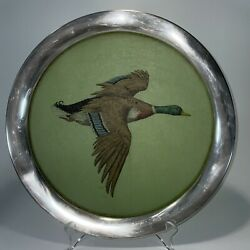 Stieff Grace Gilmore Pewter And Fiberglass Duck Tray