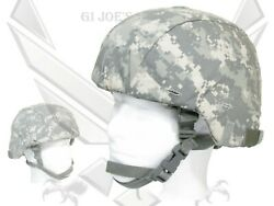 Military Msa Ach Ballistic Combat Helmet W/pads And 4 Pt Chin Harness Large Ofs