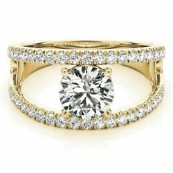 0.90ct Real Diamond Engagement Ring 14k Best Quality Yellow Ringssize 8 7 6 9