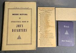 Int. Order Of Job's Daughters Collection- Ritual Books, Letters, Notes, Etc.