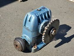 Radicon Right Angle Gear Reducer Size Au 800 60/1 Ratio Gearbox Worm Gear