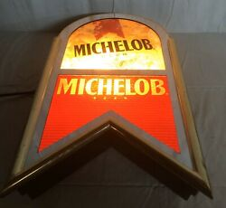 Vintage Michelob Beer Lighted Rare Sign 317-629 Everbright Bar Man Cave