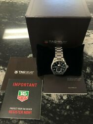Tag Heuer Carrera Stainless Menand039s Black Face Watch - War5010.ba0723 W/ Box
