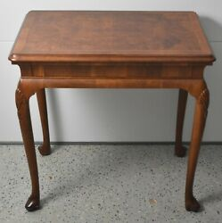 Baker Colonial Williamsburg Mahogany One Drawer Table Queen Anne Style Rare