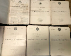 Hn Spink And Son's Numismatic Circular From The 1911 To 1934 Vintages Complete