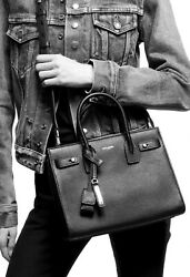Authentic Ysl Classic Sac De Jour Baby In Smooth Leather