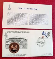 Russia 1980 Moscow Olympics Assoc Football Official Pnc Collection Medal Ex-rare