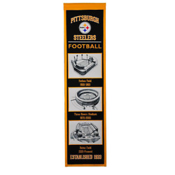 Pittsburgh Steelers Stadium Evolutions Embroidered Wool Banner 8x32