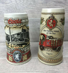 Vtg Coors Original Draft And Strohandrsquos Brewery Conbeer Steins Lot Of 2 Beer Steins