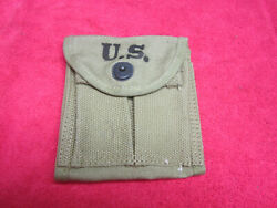 Us Original Wwii M1-carbine Stock Pouch Dated 1942